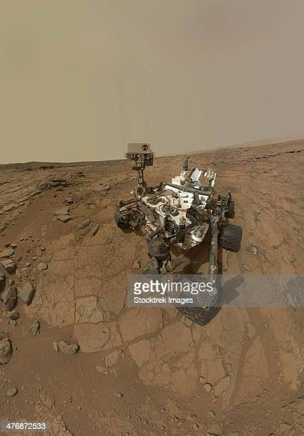 Self-portrait of Curiosity rover on the surface of Mars.