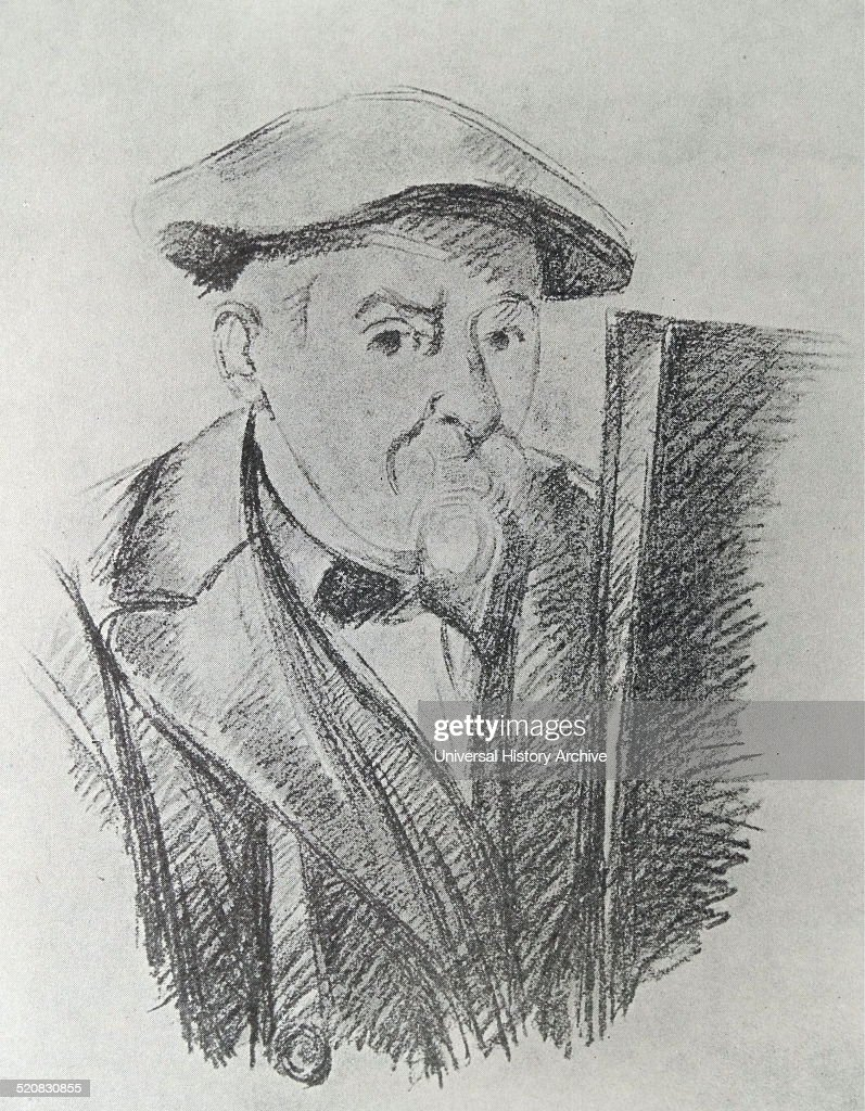 Self-portrait of Paul Cézanne (1839-1906) French artist and Post-Impressionist painter. Dated 1898.
