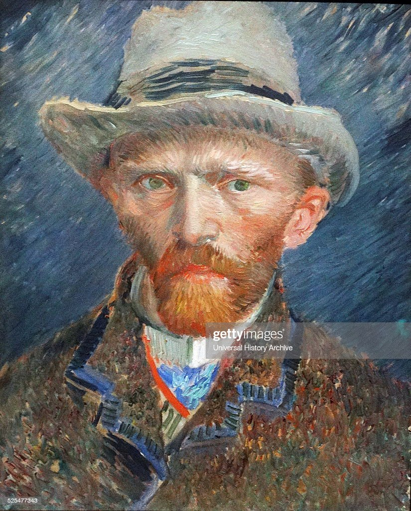 Self-Portrait of <a gi-track='captionPersonalityLinkClicked' href=/galleries/search?phrase=Vincent+van+Gogh+-+Pintor&family=editorial&specificpeople=79195 ng-click='$event.stopPropagation()'>Vincent van Gogh</a> (1853-1890) Dutch Post-Impressionist painter. Dated 1887.