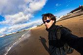 Selfportrait on the beach