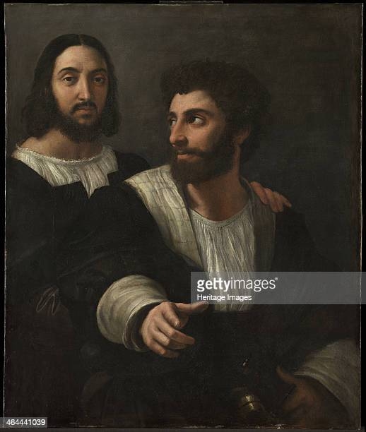 SelfPortrait with a Friend 1519 Found in the collection of the Louvre Paris