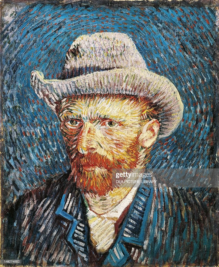 Self-Portrait with felt hat, 1888, by Vincent van Gogh (1853-1890), oil on canvas, 44x37.5 cm. (Photo by DeAgostini/Getty Images); Amsterdam, Van Gogh Museum.