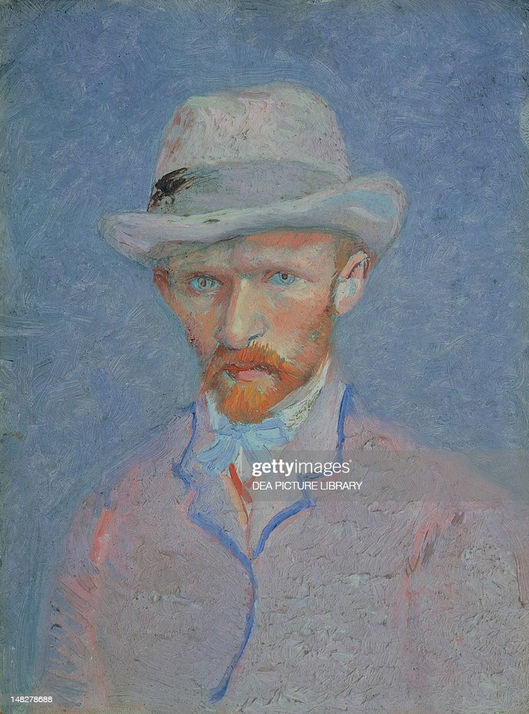 Self-Portrait with gray felt hat, 1887-1888, by Vincent van Gogh (1853-1890), oil on cardboard, 42x34 cm. (Photo by DeAgostini/Getty Images); Amsterdam, Van Gogh Museum.