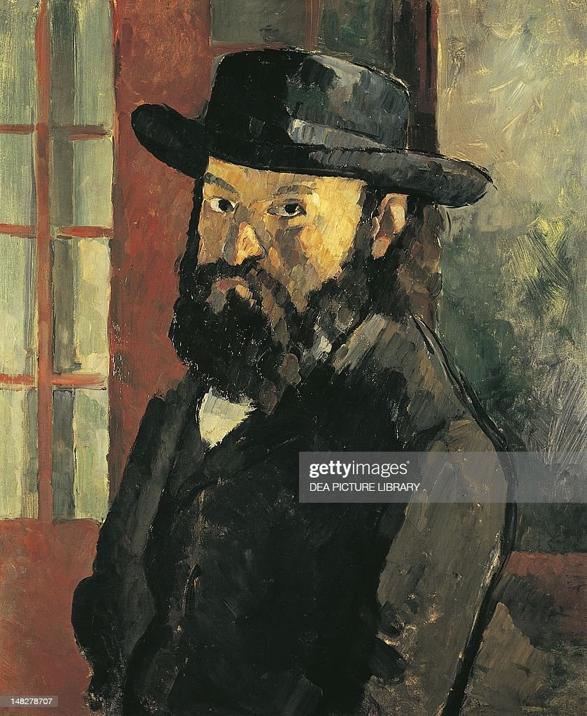 Self-Portrait with hat, 1879, by Paul Cezanne (1839-1906), 61x50 cm. (Photo by DeAgostini/Getty Images); Bern, Kunstmuseum (Fine Arts Museum).