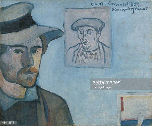 Selfportrait with Portrait of Gauguin 1888 Found in the collection of the Van Gogh Museum Amsterdam