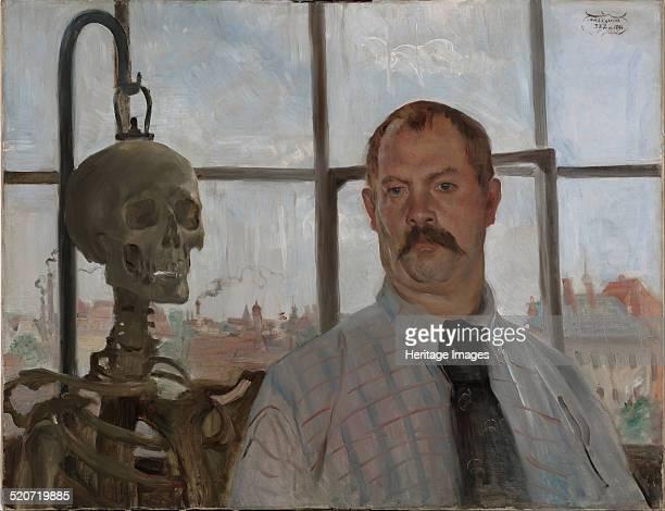 Selfportrait with skeleton Found in the collection of Städtische Galerie im Lenbachhaus Munich