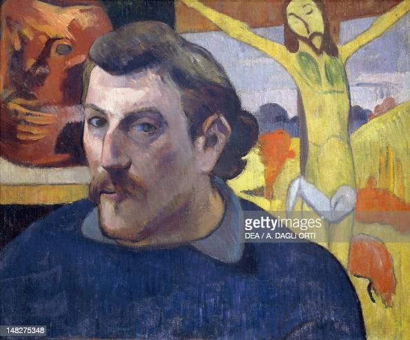 Self-Portrait with the Yellow Christ, 1890-1891, by Paul Gauguin (1848 ...