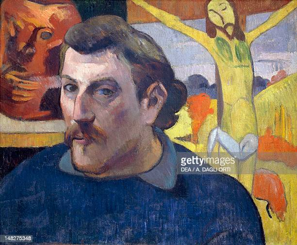 SelfPortrait with the Yellow Christ 18901891 by Paul Gauguin oil on canvas 30x46 cm Paris Musée D'Orsay