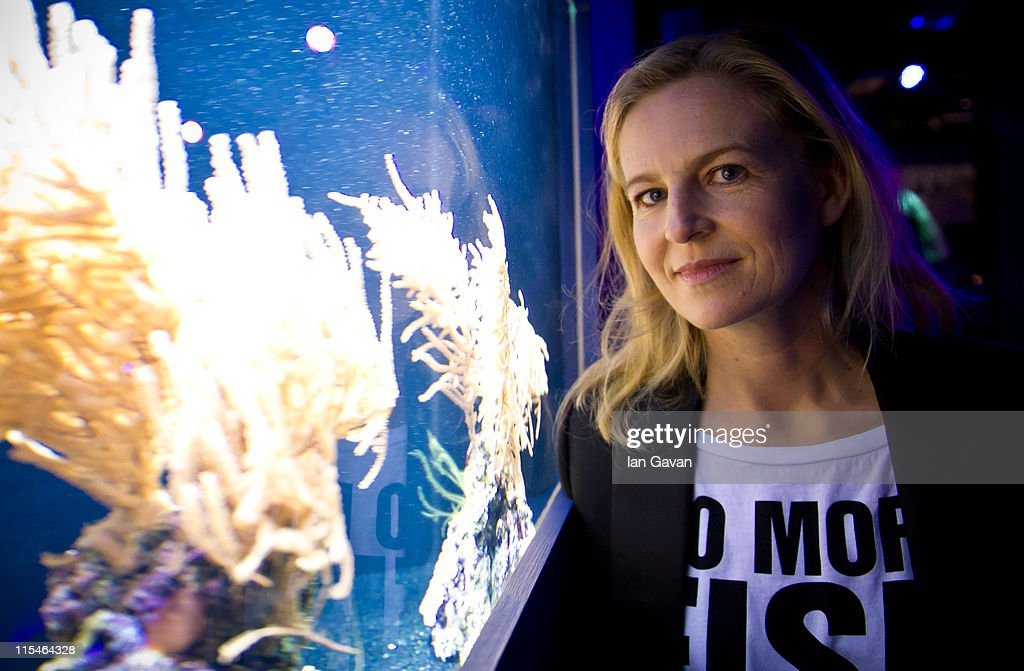Selfridges creative director Alannah Weston views a tank of coral at the Selfridges Ultralounge ahead of the launch of the 19th World Oceans Day at Selfridges Ultralounge on on June 7, 2011 in London, England. World Oceans Day will be held for the first time at Selfridges and will be attended by members of Parliament from across the European Union including Richard Benyon the British Fisheries Minister.
