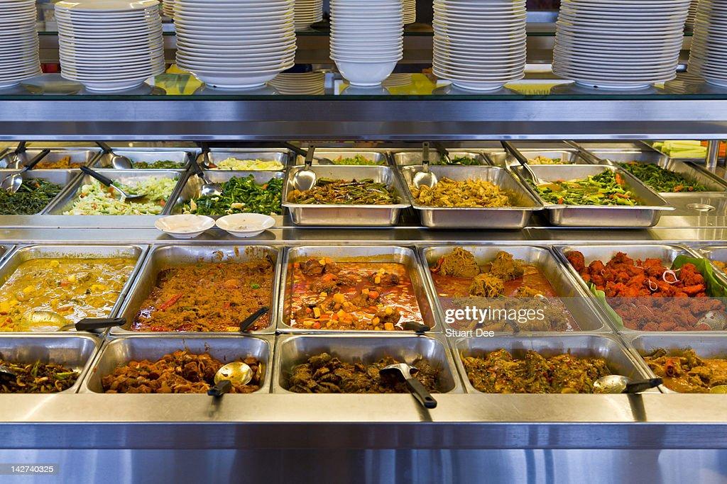 Self-serve buffet counter