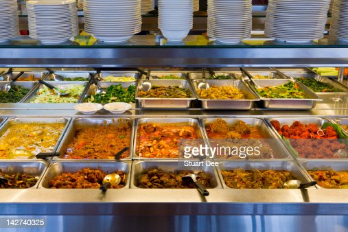 Self-serve buffet counter
