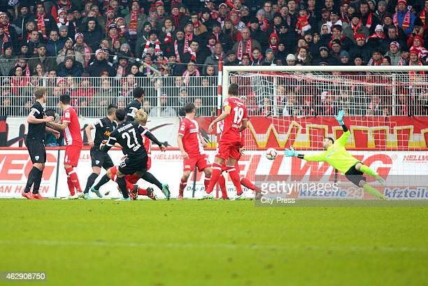 Selim Guenduez of VFL Bochum scores the 01 during the game between Union Berlin and VfL Bochum on january 7 2015 in Berlin Germany