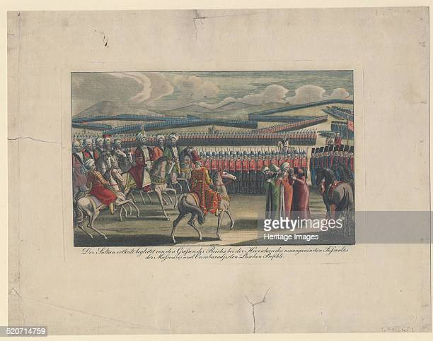 Selim III Sultan of the Turks welcomed to his new infantry review in countryside Private Collection