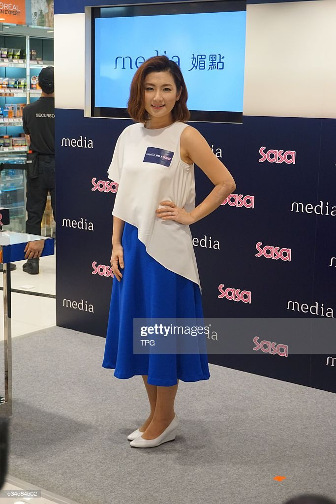 Selina attends Sasa Media skin care promotion conferenece on 26th May, 2016 in Hongkong, China.