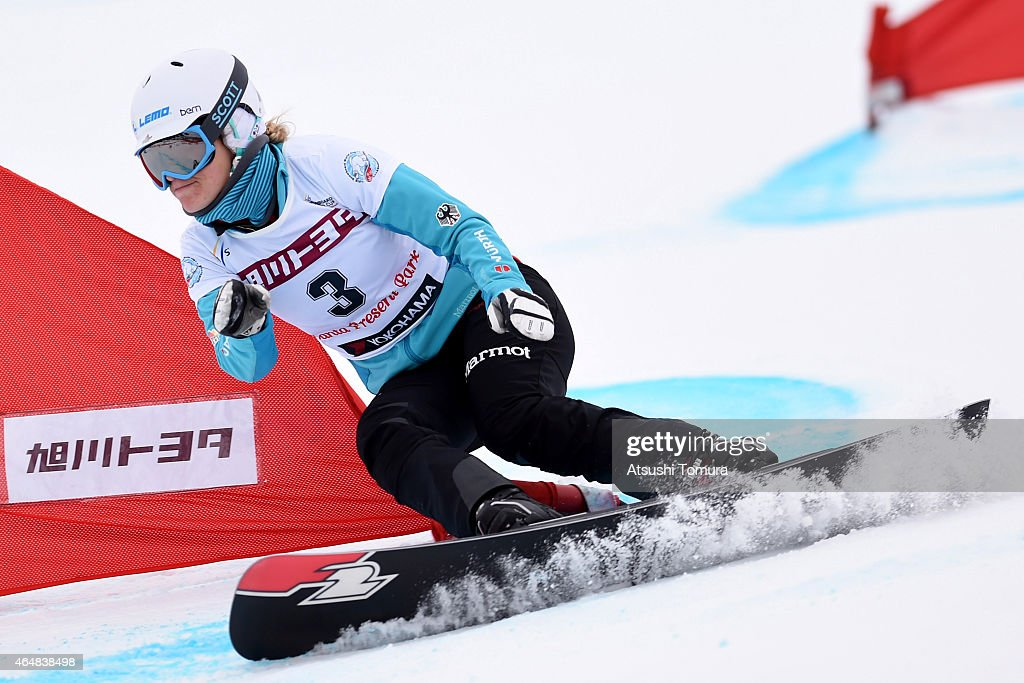 <a gi-track='captionPersonalityLinkClicked' href=/galleries/search?phrase=Selina+Joerg&family=editorial&specificpeople=2203884 ng-click='$event.stopPropagation()'>Selina Joerg</a> of Germany competes in the Ladies Parallel Slalom on the day two during FIS Snowboard World Cup - Alpine Snowboard on March 1, 2015 in Asahikawa, Japan.