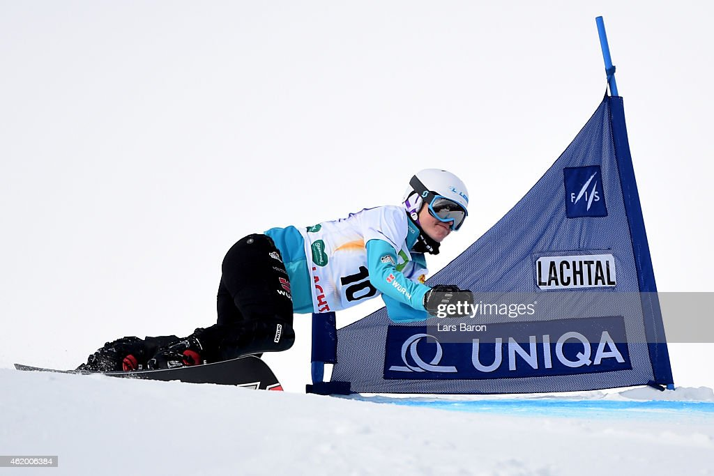 <a gi-track='captionPersonalityLinkClicked' href=/galleries/search?phrase=Selina+Joerg&family=editorial&specificpeople=2203884 ng-click='$event.stopPropagation()'>Selina Joerg</a> of Germany competes in the Women's Parallel Giant Slalom Finals during the FIS Freestyle Ski and Snowboard World Championships 2015 on January 23, 2015 in Lachtal, Austria.