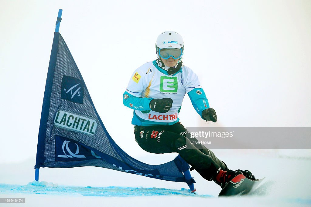 <a gi-track='captionPersonalityLinkClicked' href=/galleries/search?phrase=Selina+Joerg&family=editorial&specificpeople=2203884 ng-click='$event.stopPropagation()'>Selina Joerg</a> of Germany competes in the Women's Snowboard Parallel Slalom Finals during the FIS Freestyle Ski and Snowboard World Championships 2015 on January 22, 2015 in Lachtal, Austria
