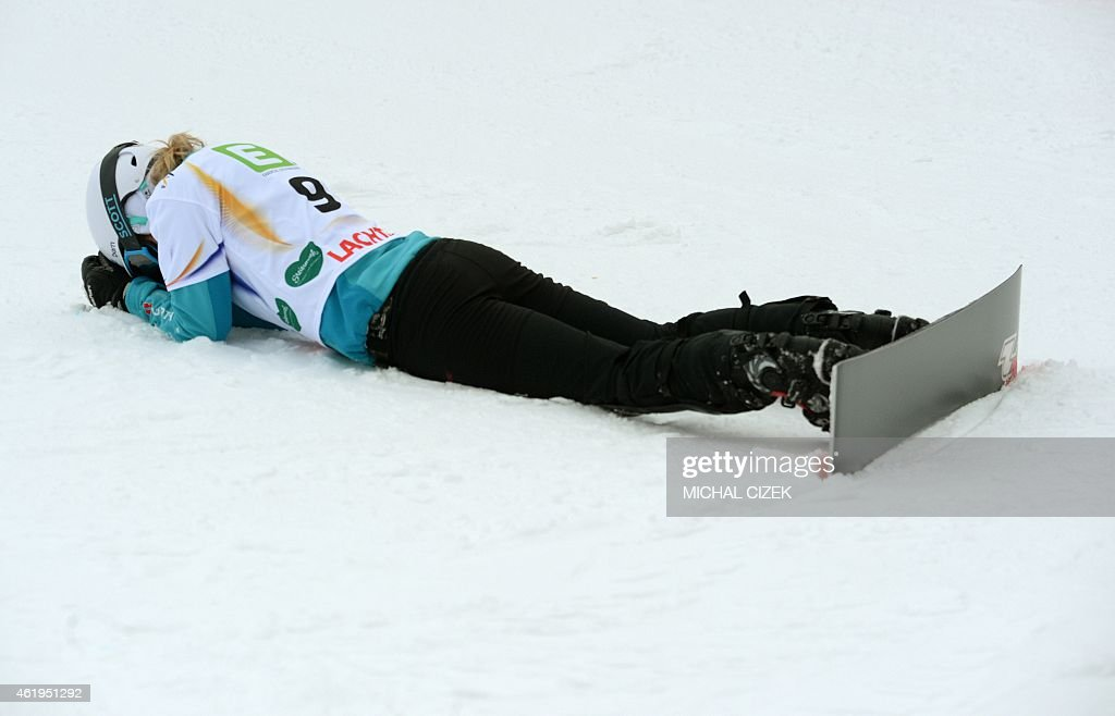 <a gi-track='captionPersonalityLinkClicked' href=/galleries/search?phrase=Selina+Joerg&family=editorial&specificpeople=2203884 ng-click='$event.stopPropagation()'>Selina Joerg</a> of Germany reacts after placing fourth in the Women's Snowboard Parallel Slalom Finals at the FIS Freestyle and Snowboarding World Ski Championships 2015 in Lachtal near Kreischberg, Austria on January 22, 2015.