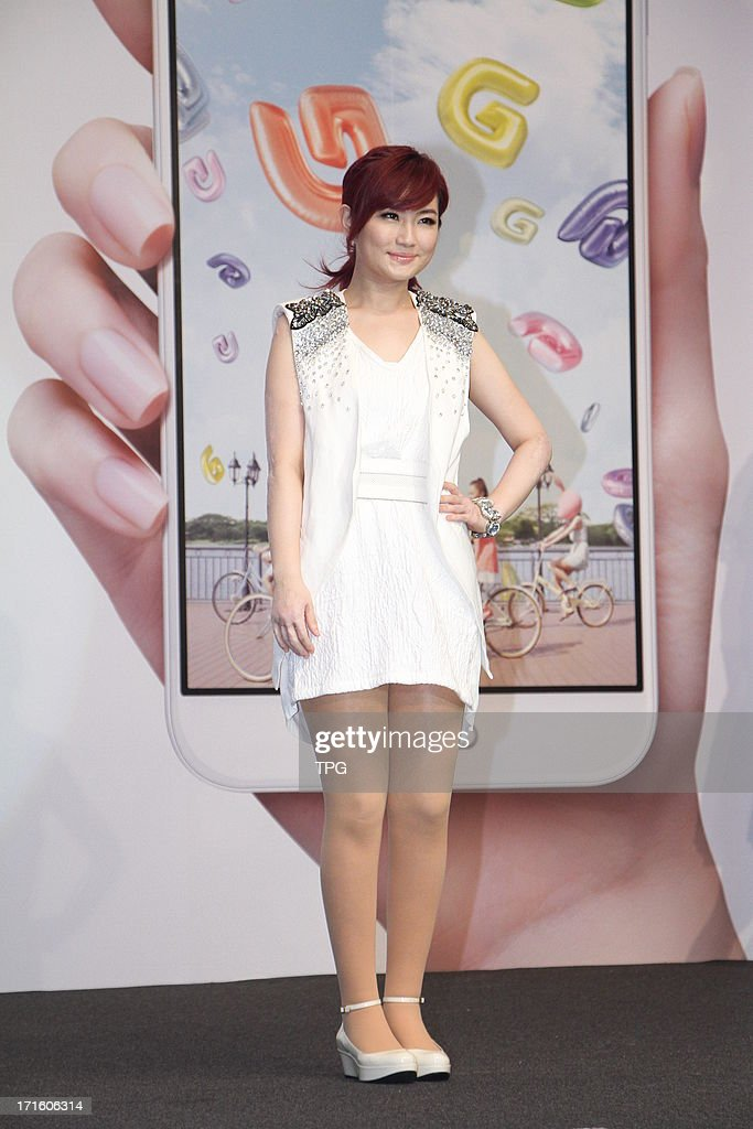 Selina, member of girl group SHE attended LG mobile phone launching activity on Wednesday June 26, 2013 in Taipei, Taiwan, China.