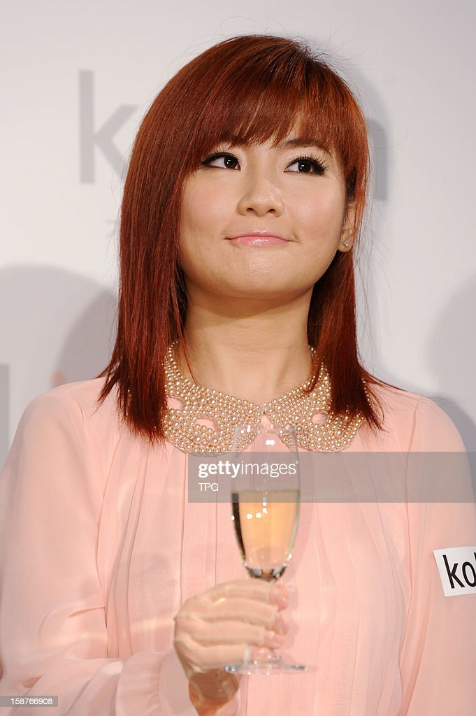 Selina, member of popular Chinese girl group S.H.E, attended commercial activity on Thursday December 27, 2012 in Taipei, Taiwan, China.