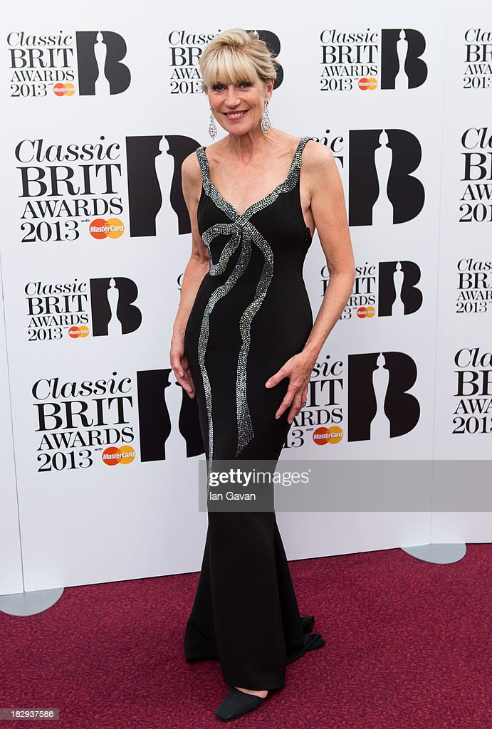 <a gi-track='captionPersonalityLinkClicked' href=/galleries/search?phrase=Selina+Scott&family=editorial&specificpeople=903557 ng-click='$event.stopPropagation()'>Selina Scott</a> poses in the winners room at the Classic BRIT Awards 2013 at Royal Albert Hall on October 2, 2013 in London, England.