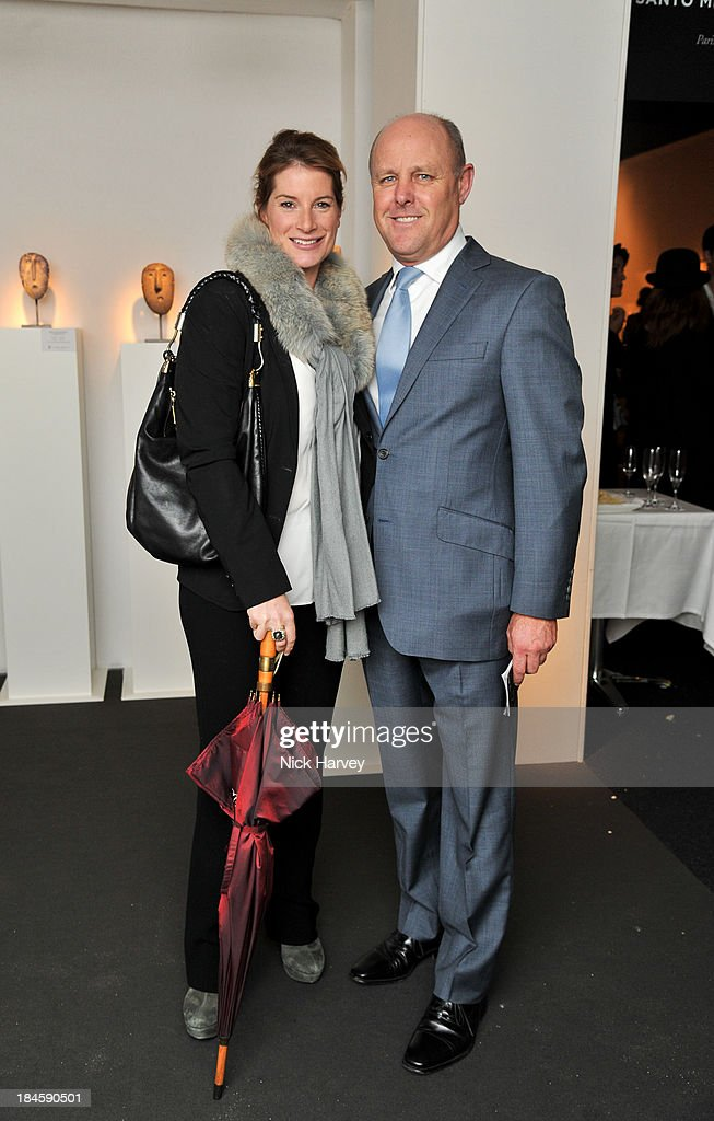 Selina Tollemache and James Hopkins attend the collectors preview for PAD London at Berkeley Square Gardens on October 14, 2013 in London, England.