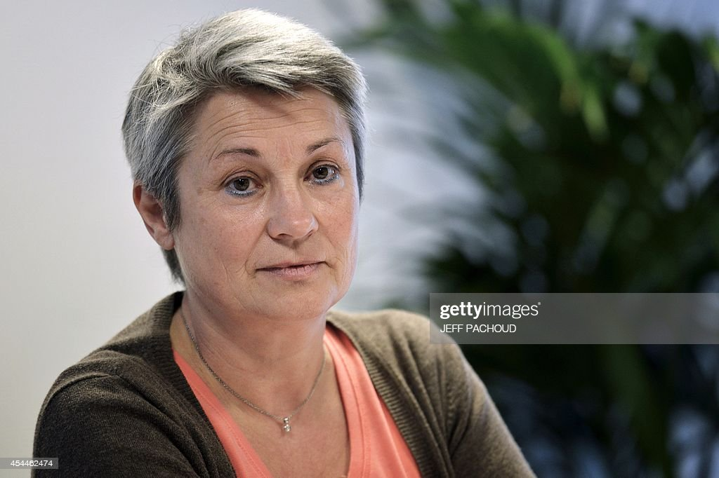 Seline Gros-Coissy, the mother of Aurore, a woman held in dentention in Mauricius for drug traffic, on September 1, 2014, in Lyon, during press conference held on the eve of the start of her daughter's trial. Aurore Seline Gros-Coissy was arrested on August 2011 after Mauritian police found in her luggage 1680 pills of Subutex, a substitute for heroin considered a hard drug there. She claims to have carried the pills unknowingly, trapped by her ex-friend.