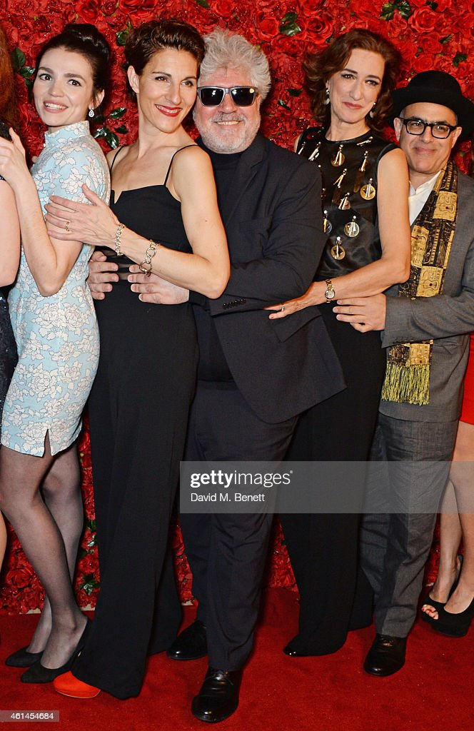 Seline Hizli Tamsin Greig Pedro Almodovar Haydn Gwynne and David Yazbek attend an after party following the press night performance of 'Woman On The...