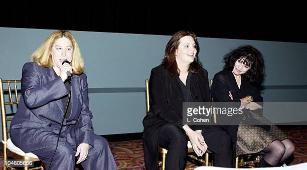 Selise Eiseman director of Women in Film Philippa Boyens and Fran Walsh cowriters of 'The Lord of the Rings'