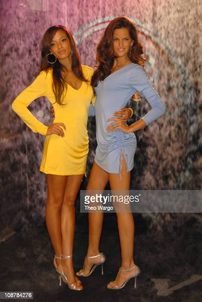 Selita Ebanks and Izabel Goulart during Victoria's Secret Launches Five New Secret Embrace Bras at Victoria's Secret Store in New York City New York...