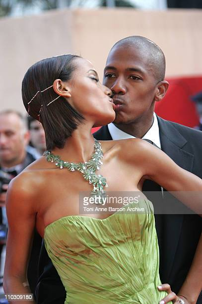 Selita Ebanks and Nick Cannon during 2007 Cannes Film Festival 'Promise Me This' Premiere at Palais des Festivals in Cannes France