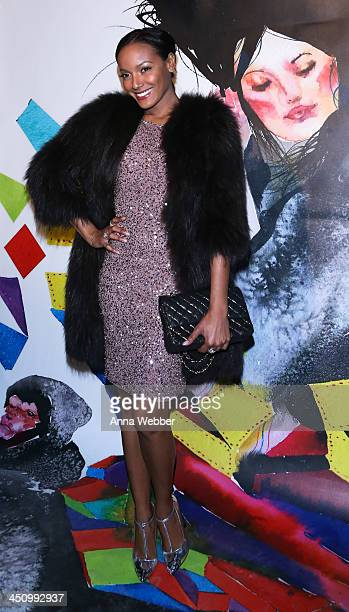 Selita Ebanks arrives to alice olivia By Stacey Bendet And David Choe Celebrate A Night Of Fashion And Art on November 20 2013 in New York City