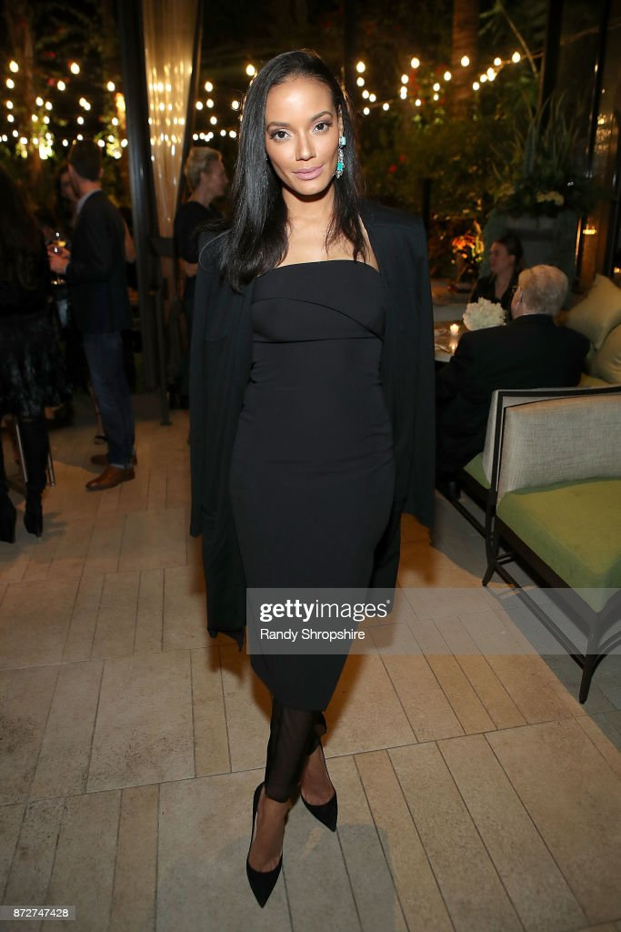 Selita Ebanks attends Angeleno Magazine philanthropy issue celebration with Sandra Lee and BBVA Compass at Culina at the Four Seasons Hotel, Beverly Hills, CA. on November 10, 2017 in Beverly Hills, California.