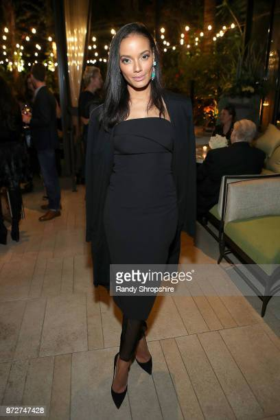 Selita Ebanks attends Angeleno Magazine philanthropy issue celebration with Sandra Lee and BBVA Compass at Culina at the Four Seasons Hotel Beverly...