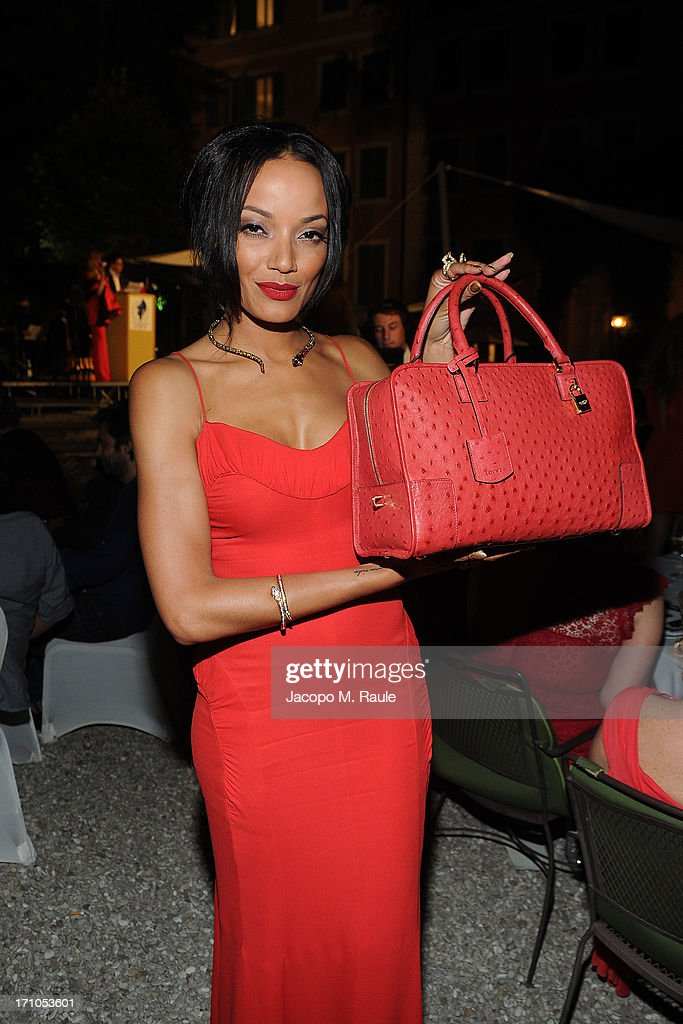 Selita Ebanks attends Cash & Rocket On Tour Women for Women - Gala Dinner and Auction on June 16, 2013 in Rome, Italy.