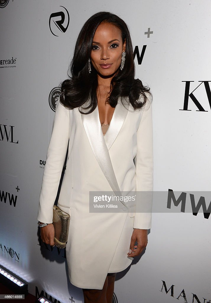 <a gi-track='captionPersonalityLinkClicked' href=/galleries/search?phrase=Selita+Ebanks&family=editorial&specificpeople=619483 ng-click='$event.stopPropagation()'>Selita Ebanks</a> attends KWL's 4th Annual Sports And Entertainment Celebration Honoring NFL's Rising Stars Colin Kapernick And Robert Quinn at Manon on January 30, 2014 in New York City.