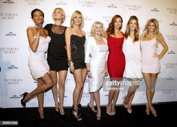 Selita Ebanks Doutzen Kroes Heidi Klum Victoria's Secret CEO Sharen Turney Miranda Kerr Alessandra Ambrosio and Marisa Miller attend the grand...