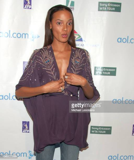 Selita Ebanks during Glam Slam '06 Launching the 2006 US Open Arrivals at Crobar in New York City New York United States