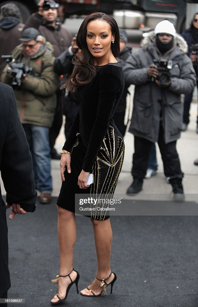 Selita Ebanks is seen Around Lincoln Center - Day 6 - Fall 2013 Mercedes-Benz Fashion Week at Lincoln Center for the Performing Arts on February 12, 2013 in New York City.