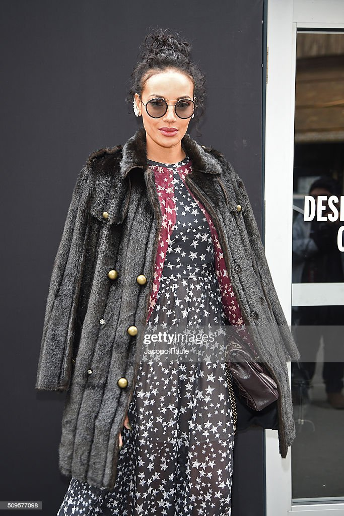 Selita Ebanks is seen leaving the BCBGMAXAZRIA fashion show during Fall 2016 New York Fashion Week at Skylight Moynihan Station on February 11, 2016 in New York City.