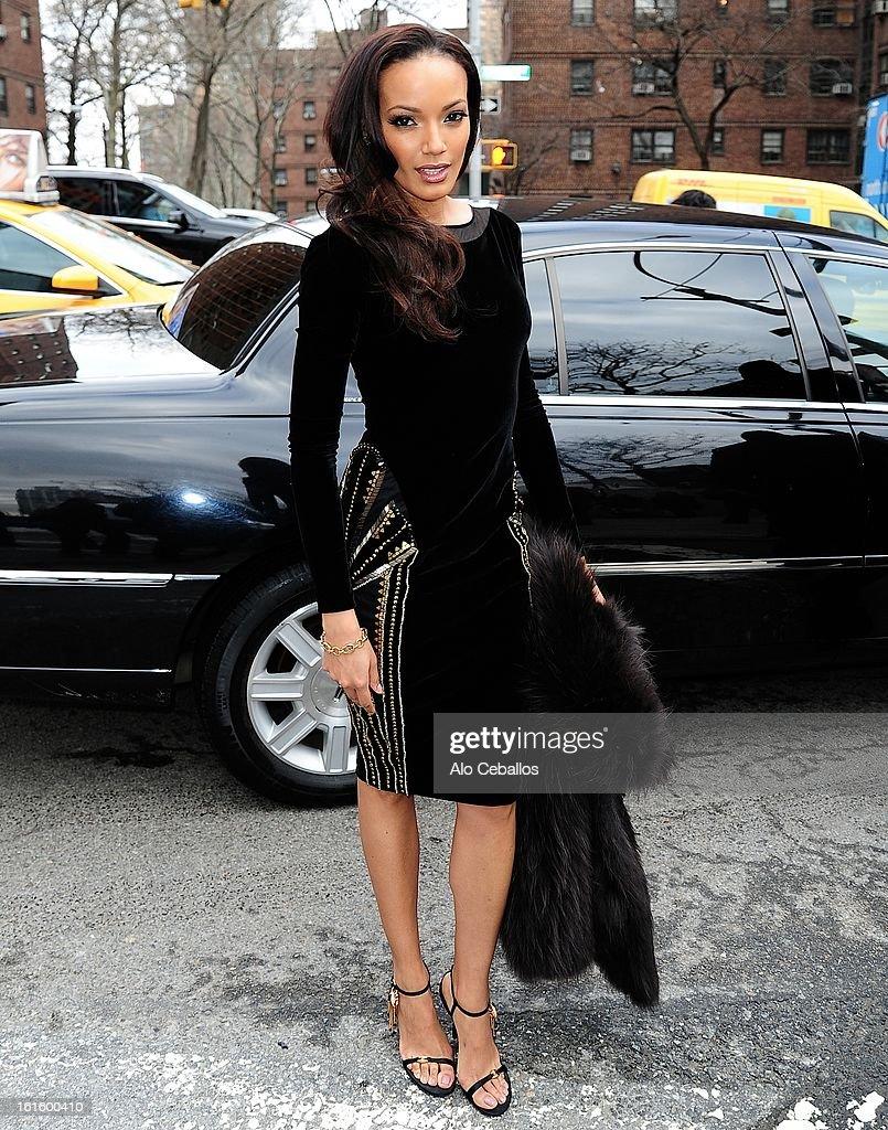 Selita Ebanks is seen on February 12, 2013 in New York City.