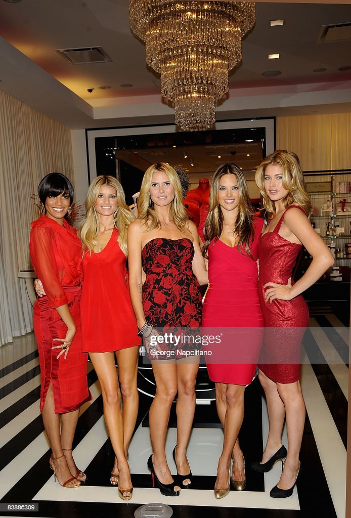 Selita Ebanks Marisa Miller Heidi Klum Alessandra Ambrosio amd Doutzon Kroes attend the grand opening cocktail party for the new Victoria Secret...