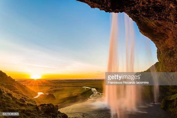 Seljalandsfoss at sunset, Iceland