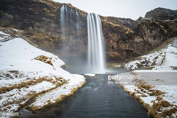 Seljalandsfoss one of the best known waterfalls in Iceland.