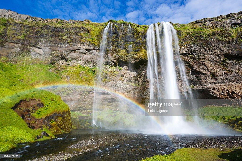 Seljalandsfoss waterfall : Stock Photo