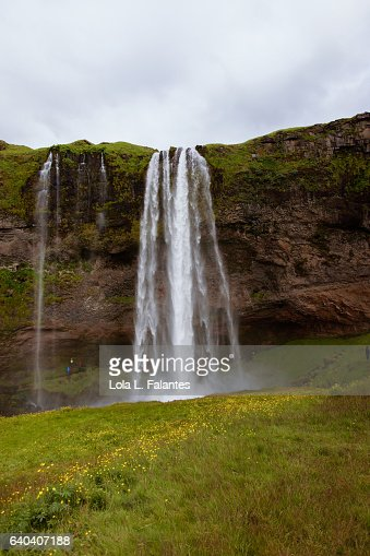 Seljalandsfoss waterfall : Foto de stock