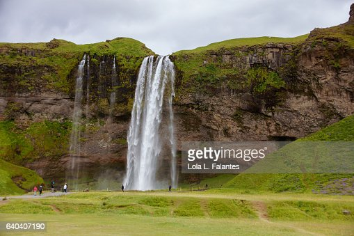 Seljalandsfoss waterfall : Foto de stock
