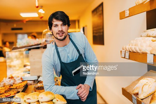 Seller at a bakery : Photo