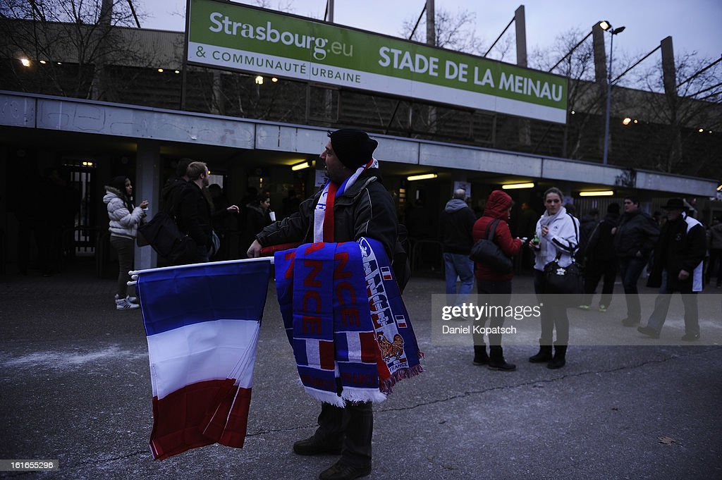 A seller looks on prior the international friendly match between France and Germany at Stade de la Meinau on February 13, 2013 in Strasbourg, France.