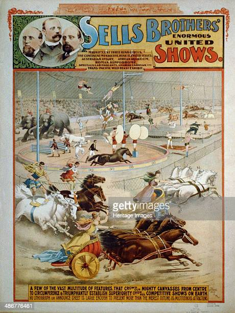 Sells Brothers' Enormous Shows ca 1885 Artist The Strobridge Lithographing Company